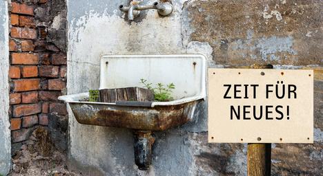 Zeit fr Neues DDR Waschbecken